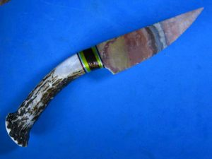 flintknapped polychrome jasper knife