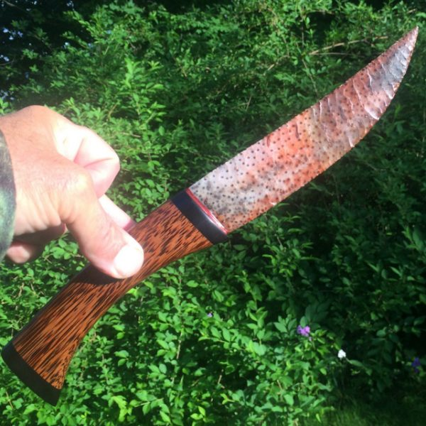 flintknapped palmwood stone knife