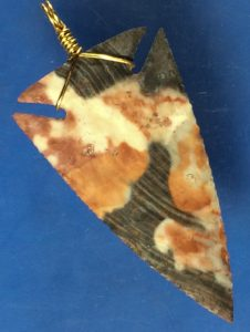 flint ridge one of a kind arrowhead necklace