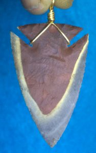horse creek chert arrowhead necklace
