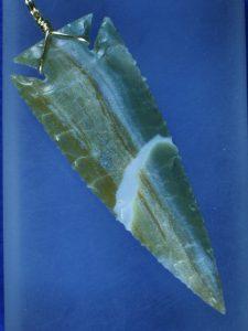 ocean wave jasper arrowhead necklace